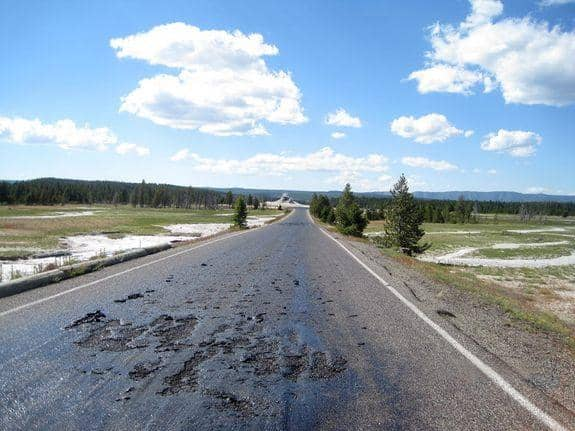 Geothermal Activity At Yellowstone Is Melting Roads, Signaling Possible Super-Volcano Eruption