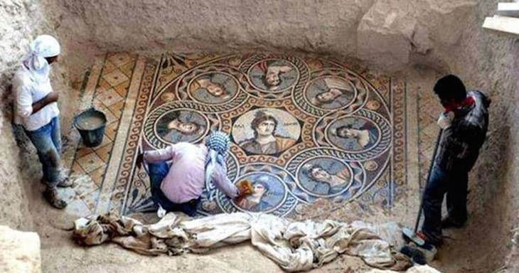 Archaeologists Unearth Ancient Greek Mosaics In Pristine Condition, There's Nothing Like It
