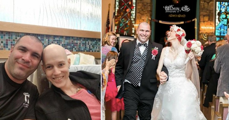 Bride Stricken With Stage 4 Cancer Defies Doctors To Walk Down The Aisle On Chosen Date