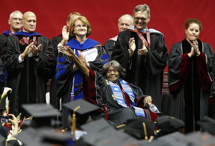 The First Black Student That Enrolled In The University Of Alabama Received An Honorary Doctorate, 60 Years Later