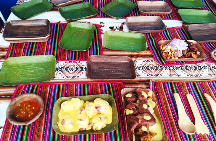 Innovative Peruvian Company Has Launched Biodegradable Plates Made Out Of Banana Leaves To Phase Out The Use Of Styrofoam and Plastic Flatware