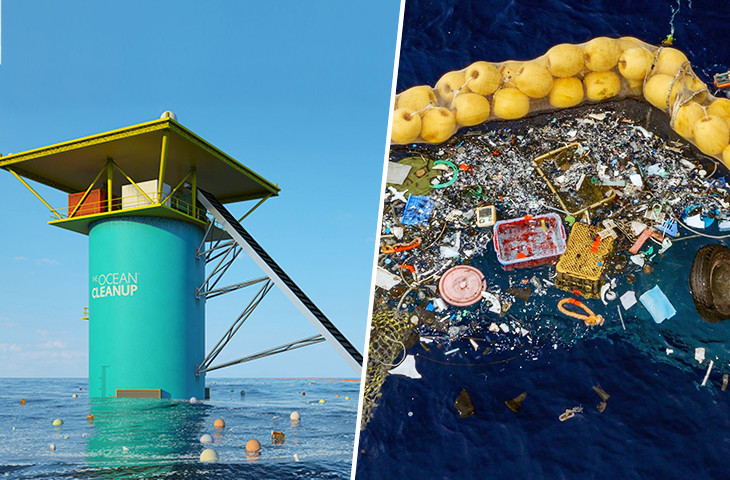 An Innovative Massive Floating Device Is Now Being Used To Clean Out all Plastic Waste In The Great Pacific Garbage Patch