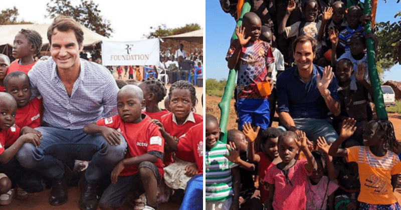 Roger Federer, One Of The World's Best Tennis Players, Has Provided Education And Food To Over 1 Million Children