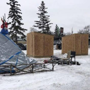 Local Police In Winnipeg, Manitoba Tear Down Homeless Shelters In The Freezing Winter Without Any Warning