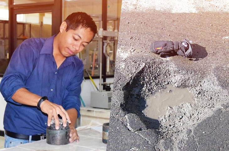 University Student From Mexico Invented A Self-Regenerating Pavement Made Out Of Rubber When Exposed To Rain